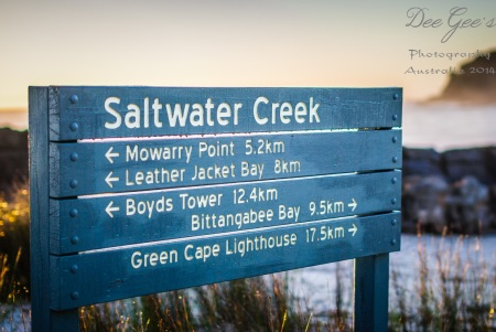 Saltwater Creek Sign