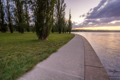 Lakeside Evening Walk