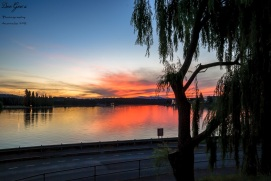 Sunset on Lake Burley Griffin